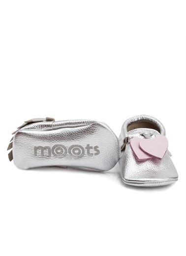 Moots Moots Gümüş Pembe Kalp Ayakkabı Gümüş